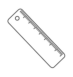 Isolated ruler tool design vector