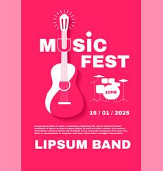 jazz fest live music poster template concert vector image