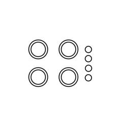 kitchen tiles icon vector image