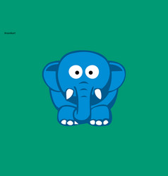 Little elephant vector