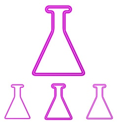 Magenta line laboratory logo design set vector
