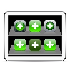 Map green app icons vector image