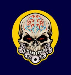 mexican sugar skull dia de los muertos vector image