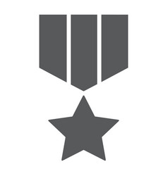 military star glyph icon label and army insignia vector image