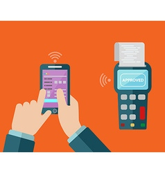 mobile payment via smartphone vector image