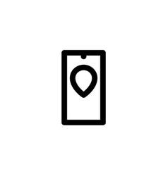 mobile pin icon vector image