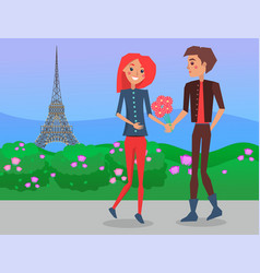 ouple omantic date on background the vector image