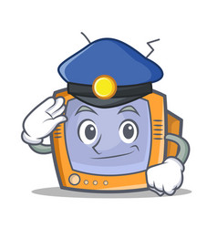 police tv character cartoon object vector image