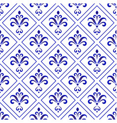 porcelain baroque pattern vector image