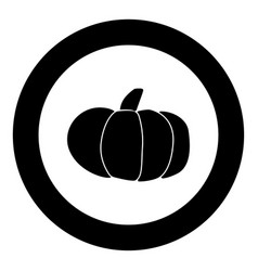 Pumpkin icon black color in circle vector