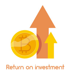 Return on investment icon cartoon style vector