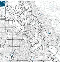 San jose map jose city map poster map vector