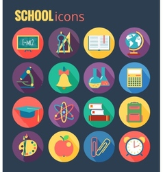 School icon set eps10 vector image