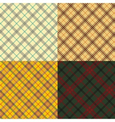 Scottish tartan set vector