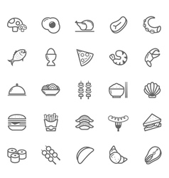Set of Outline stroke Food icon vector image