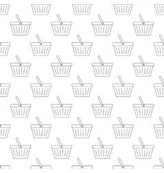 Shopping basket pattern seamless vector image