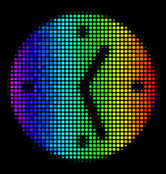 spectral colored pixel clock icon vector image