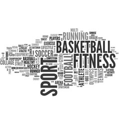 sports word cloud concept vector image