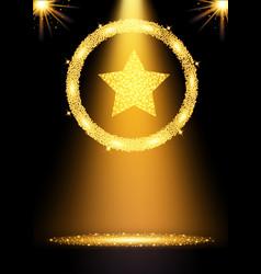 spotlight gold background vector image