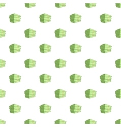 Stack of money pattern cartoon style vector