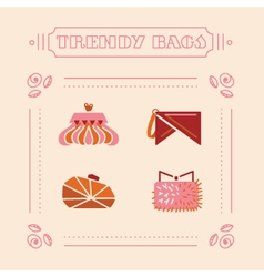 Stylish woman bags and clutches vector