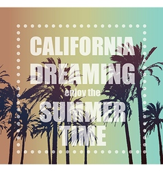 Summer exotic banner with palms vector