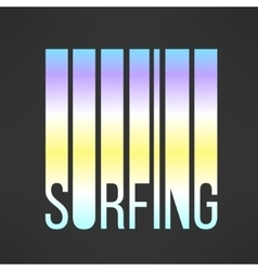 Surfing typography with sky colors T-shirt vector