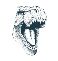 T-rex head vector