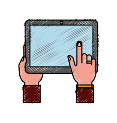 Tablet device icon vector