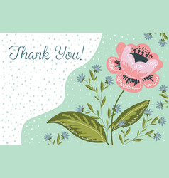 Thank you horzontal hand drawng brush picture vector