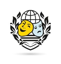Theater symbol vector image