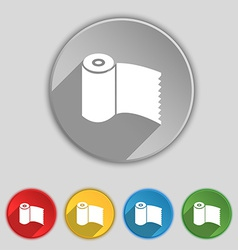 Toilet paper WC roll icon sign Symbol on five flat vector