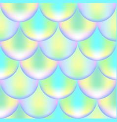 Vibrant mermaid seamless pattern fish skin texture vector