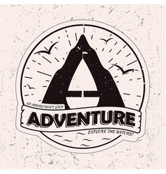 vitage monochrome outdor adventures logo design vector image