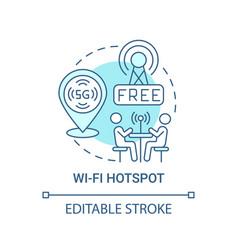 wi-fi hotspot blue concept icon vector image