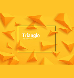 Yellow triangles abstract geometric background vector