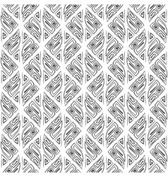 Abstract seamless hand drawn tribal black pattern vector