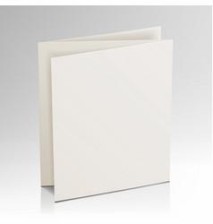 blank folder white brochure 3d mockup vector image
