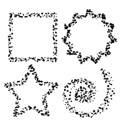 dot shapes vector image vector image