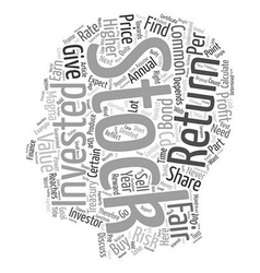 Fair Value of A Common Stock text background vector image vector image