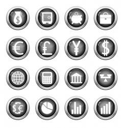 financial icon set vector image vector image