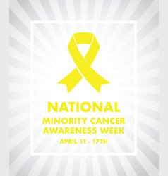 national minority cancer awareness ribbon vector image vector image