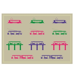 Public transportation icons series vector image