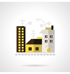 Rent apartments icon flat style vector image vector image