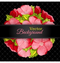 Floral invitation card with flowers peony template vector image vector image