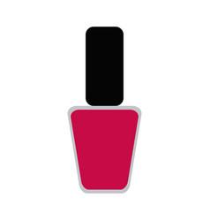 pink nail polish icon image vector image