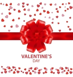 Valentines Day beautiful background with ornaments vector image vector image