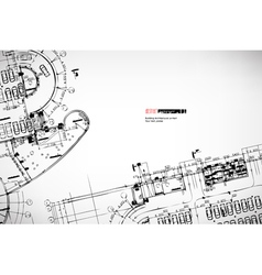 background architectural sketches vector image vector image