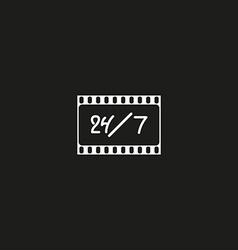 Cinema logo movie theater sign vector image