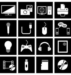 electronics icons vector image